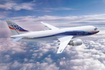 artist's impression of MC-21 airliner
