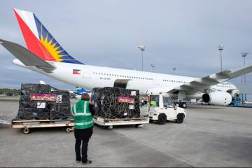 Philippine Airlines A330 being loaded
