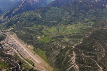 Aerial View of Aspen Airport