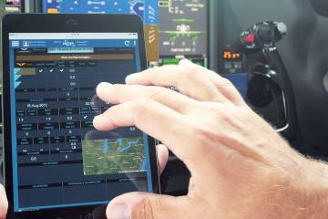 Satcom Direct's new SD FlightLog electronic flight data log can be run on portable devices.