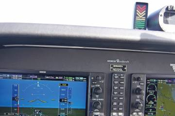 Garmin's angle-of-attack indicator offers a simple display of critical information. The $1,499 system consists of the GI 260 angle-of-attack indicator, the easy-to-install GAP 26 probe and GSU 25 air-data computer.