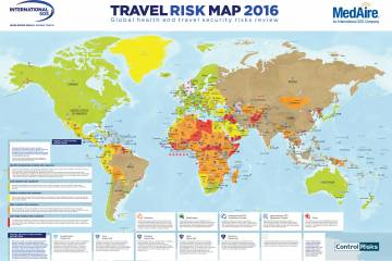 MedAire's 2016 Travel Risk Map
