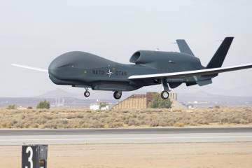 First flight of NATO AGS Global Hawk