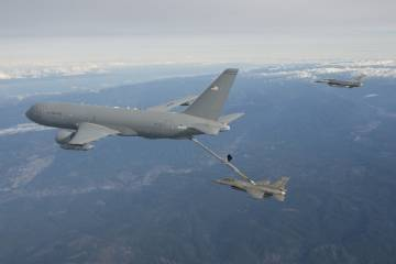 KC-46A first refueling flight