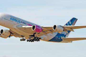 Rolls-Royce and Airbus expect to log about 120 hours' flying over about nine months with the new 97,000-pound-thrust Trent XWB-97 engine for the stretched A350-1000 XWB on the airframe manufacturer's A380 flying testbed.