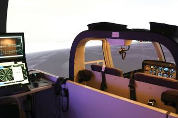 HFTC's Frasca Bell 407 FTD was recently certified to Level D.