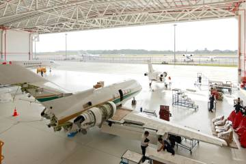 Hawker Pacific's hangar at its Seletar Airport base is well stocked, as business aviation continues to grow in the region.