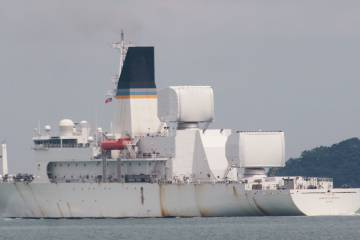 U.S. Air Force Missile Tracking Ship Slips By