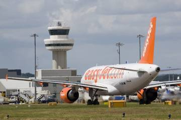EasyJet airliner at Gatwick Airport