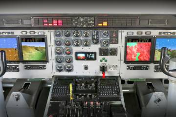 Universal Avionics CN-235 flight deck upgrade