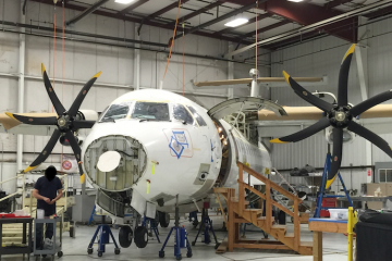 DEA ATR 42-500 undergoing modifications