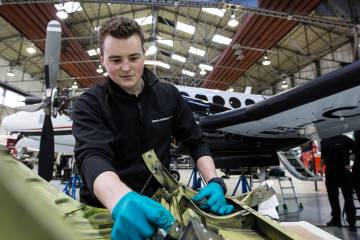 Maintenance is one of the mainstays of Gama Aviation's extensive bizav offerings.
