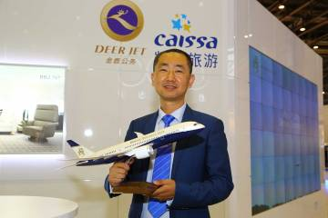 Deer Jet chairman and president Zhang Peng