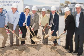 Groundbreaking at Desert Jet FBO