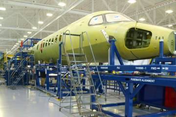 "Textron Aviation's Longitude is much more than a stretched Latitude, and it will be assembled ""across town"" at a freshly reconfigured Plant IV in Wichita. Photo: Matt Thurber"