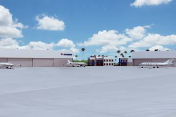Rendering of the Jet Aviation Van Nuys facility
