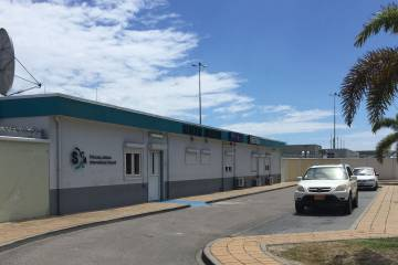 The former TLC Aviation FBO at Princess Juliana International Airport
