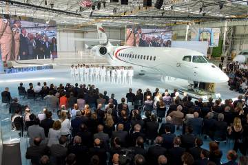 Rollout ceremony for the Dassault 5X