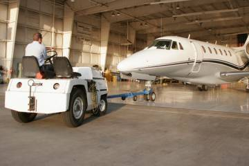 towing a business jet
