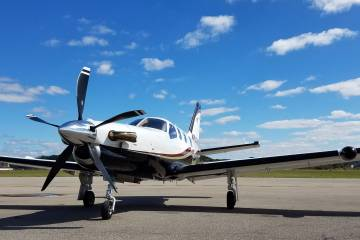 Eric Walden, grandson of FlightSafety International founder Al Ueltschi, has found a niche as a TBM 850 charter operator.