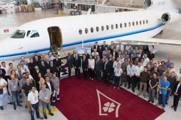 Dassault Falcon 8X first delivery