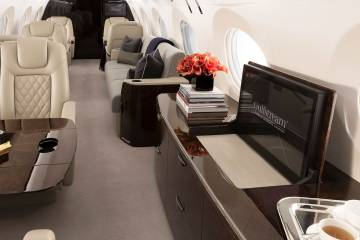 One of the stars of 2016 NBAA show is the G500's full production interior. In the midst of its flight test program, the interior has displayed its functionality, as well as provided customers the opportunity to provide input.