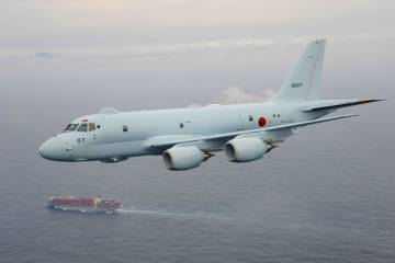 Kawasaki P-1 in flight