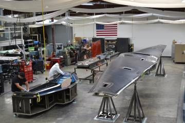 Tern assembly at Scaled Composites
