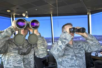 U.S. Air Force air traffic controllers