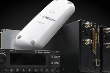The Honeywell Aspire 200 satcom system for helicopters includes either a motorized or fixed antenna, line replaceable units and MMU-II integrated dialer and text messaging terminal.