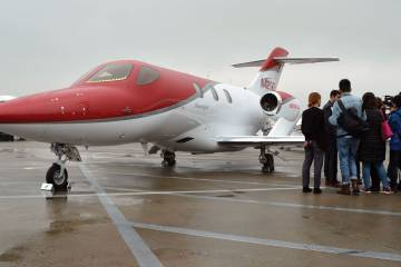 HondaJet on ramp