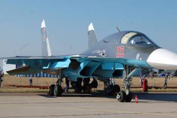 Su-34 on static display