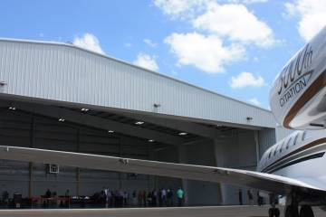 Sheltair's new hangar at Orlando Executive Airport, Florida