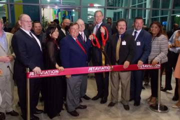 Ribbon cutting at Jet Aviation San Juan