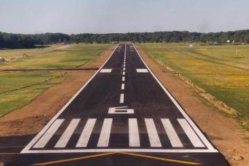 Cuyahoga County Airport's refurbished runway