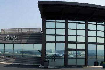 Signature Flight Support's new FBO at Boeing Field.