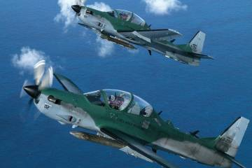 Super Tucano formation
