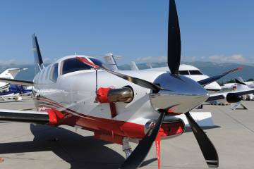Daher TBM 900 at EBACE 2015 static display