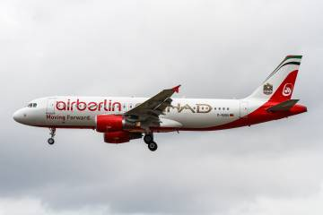 aircraft in Air Berlin livery