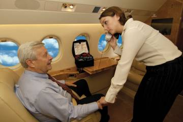 When a medical situation arises during a flight, crewmembers have ready access to an emergency department doctor for advice and assistance through MedAire's MedLink Global Response Center.