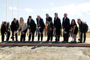 Lufthansa Technik groundbreaking in Puerto Rico.