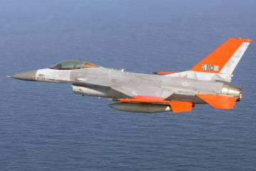 QF-16 first unmanned flight
