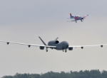 Shadowed by a chase plane, the Northrop Grumman Euro Hawk UAV touched down at...