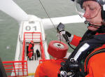 Hoisting personnel to and from a wind turbine's.