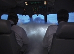 Dense, continuous smoke in the cockpit is a rare occurrence.