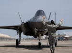 "The first F-35A for the ""schoolhouse"" arrived at Eglin AFB in Florida on July..."