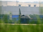 Chengdu's latest surprise is this joined-wing UAV, seen outside the company's...