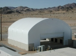 The multi-purpose custom structures can be built up to 300 feet wide