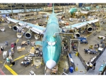 Boeing stopped moving airplanes forward on its Everett, Wash., 747-8 producti...