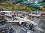 Plans call for Boeing's new 787 factory in Charleston, South Carolina, to produce three airplanes a month by the end of the year.